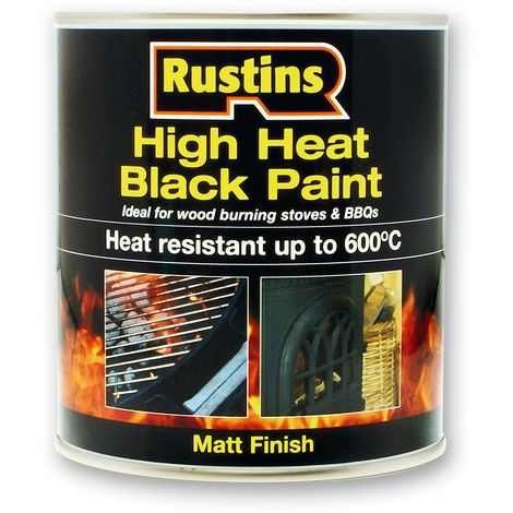 Rustins High Heat Black / Silver Paint 250ml & 500ml All Types Available