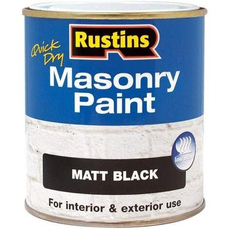 "main image of ""Rustins Masonry Paint Black 500ml"""