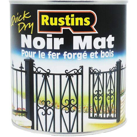 Rustins Matt Paint Black Quick Drying 500 ml RUSBM500