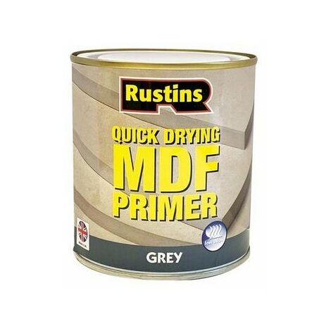Rustins MDGP500 Quick Drying MDF Primer Grey 500ml