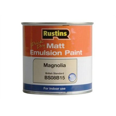 """main image of """"Rustins MEMLM250 Quick Dry Matt Emulsion Paint Magnolia 250ml"""""""
