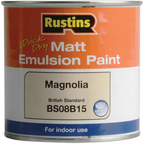 Rustins MEMLM250 Quick Dry Matt Emulsion Paint Magnolia 250ml