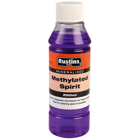 Rustins Methylated Spirit Cleans Mirrors Glass & Jewellery- ALL SIZES AVAILABLE
