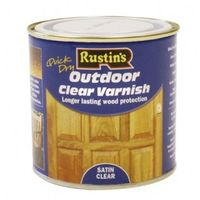 Rustins Outdoor Clear Varnish Gloss & Satin Paint- ALL SIZES AVAILABLE