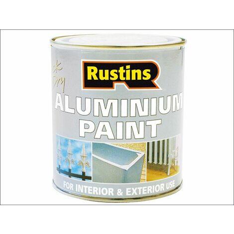 Rustins Quick Dry Aluminium Paint 250ML & 500ML Stocked QD