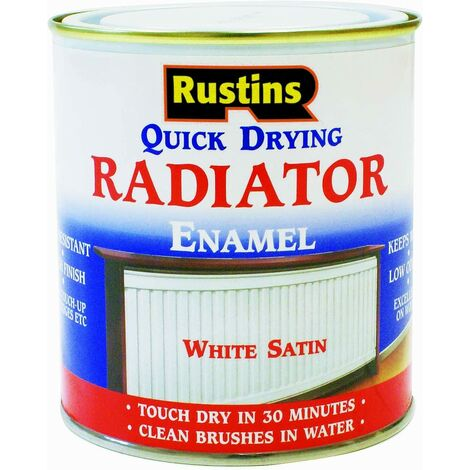 Rustins Quick Dry Radiator Paint Satin 1L