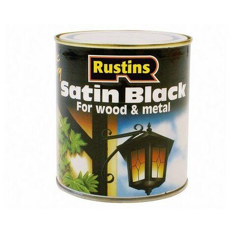 Rustins SATB2500 Satin Black Paint Quick Drying 2.5 Litre