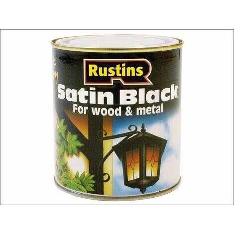 Rustins Quick Dry Satin Black Paint 250ML / 500ML / 1L / 2.5 Litre ALL SIZES