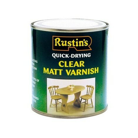 Rustins Quick Dry Varnish CLEAR Gloss / Matt / Satin Paint- ALL TYPES SIZES