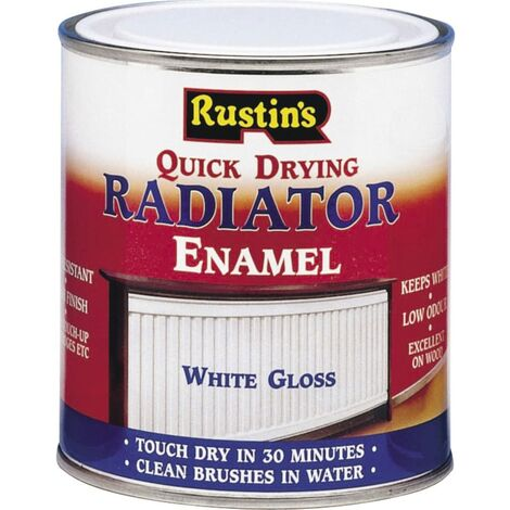 Rustins RADG500 500ml Quick Dry Radiator Paint Gloss