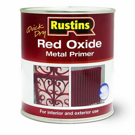 Rustins REDOW2500 Quick Dry Red Oxide Metal Primer 2.5 Litre
