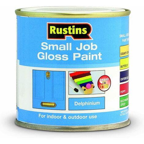 Rustins Small Job Gloss Paint Delphinium 250ml