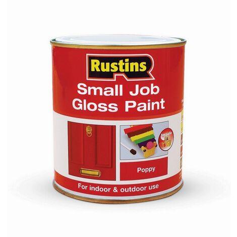 Rustins Small Job Gloss Paint White 250ml
