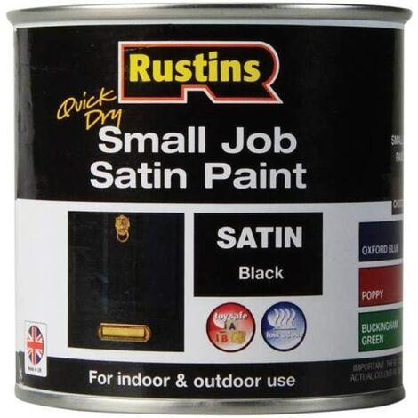 Rustins Small Job Satin Paint Black 250ml