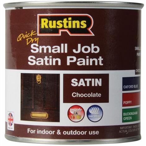 Rustins SPCHW250 Quick Dry Small Job Satin Paint Chocolate 250ml