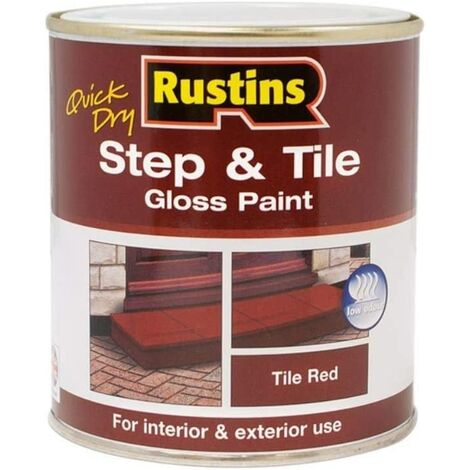 Rustins Step and Tile Paint - Red 250ml