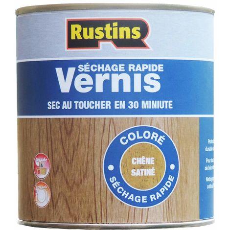 Rustins VSOA1000 1 Litre Quick Dry Varnish Satin - Oak