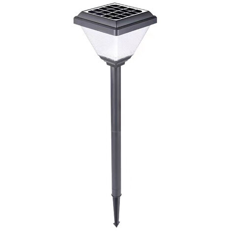 Ruta LED Estaca de control de iluminacion solar luces de cesped al aire libre enciende la lampara del paisaje impermeable bajo suelo para la fiesta de la boda Yard Pasarela Patio Decoracion de la lampara, blanca