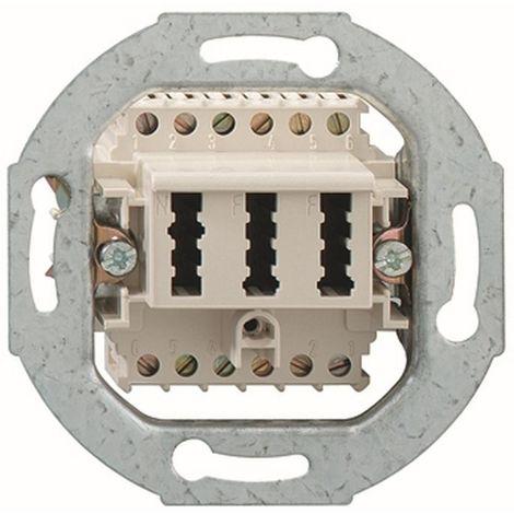 Rutenbeck Telekommunikations-Anschluss-Einheit 2x6/6-polig Schrauban weiß