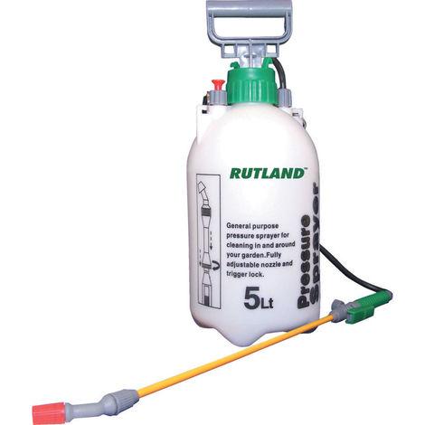 Rutland Drucksprühgerät 5 Liter weiß Handsprüher Pflanzenschutz