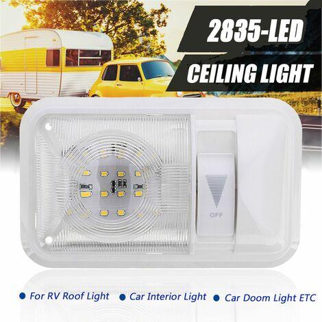 RV Plafonnier de Camping-car 12V Lampe LED Ampoule Lumière Eclairage Intérieur Pour Véhicule Bateau