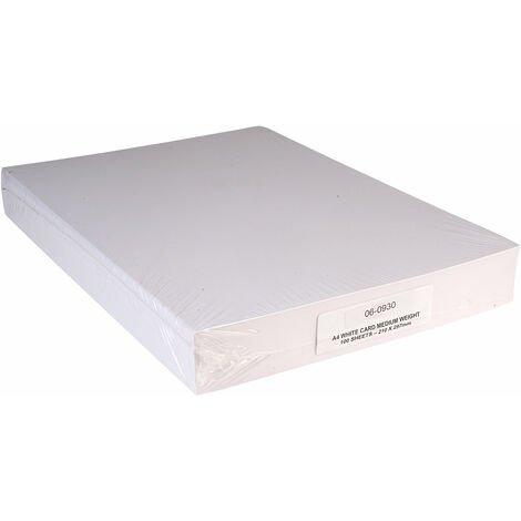 RVFM A4 Card White - Pack of 100