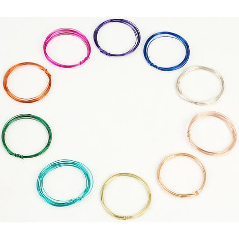 RVFM Coloured Copper Craft Wire - Pack of 10