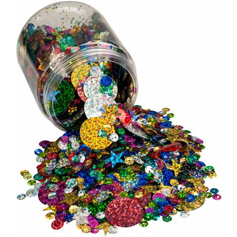RVFM Coloured Hologram Sequins 100g Tub
