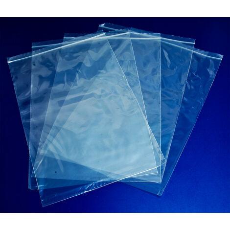 RVFM Self Seal Mini Grip Plain Polythene Bag 230 x 355mm 300 Gauge -Pk100