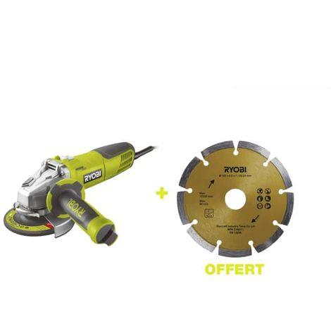 RYOBI 1010W 125mm Angle Grinder - 1 Diamond Disc RAG1010-125SFD1