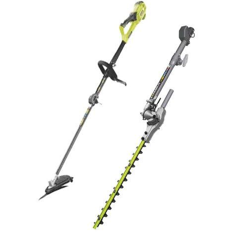 RYOBI 1200W electric brushcutter pack RBC1226l - swivel hedge trimmer RXAHT01