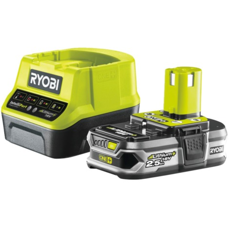 Ryobi 18 V Akku-Starterset RC18120-125, Set, grün/schwarz, Ladegerät + Akku