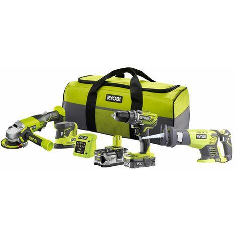 Ryobi 18 V Combo kit 4 outils - R18CK4E-242S
