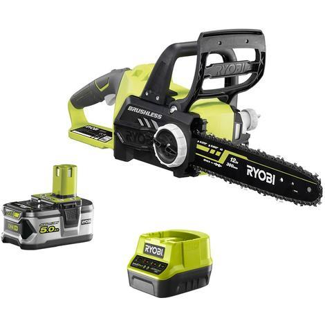 RYOBI 18V Brushless Cut-Off Machine OnePlus motor - 1 battery 5 0 Ah - 1  charger RCS18X3050F