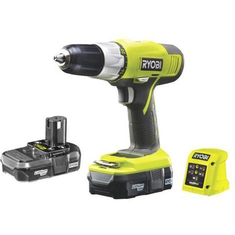 RYOBI 18V drill driver OnePlus - 2 1 3Ah Lithium-ion batteries - charger -  R18DDP-LL13G