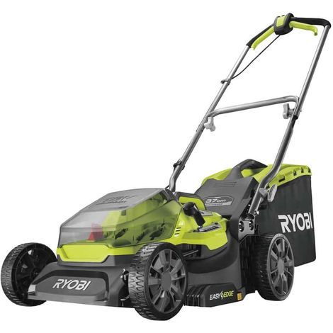 RYOBI 18V LithiumPlus Brushless mower cuts 37cm - 1 battery 5.0 Ah - 1 quick charger - RY18LMX37A-150