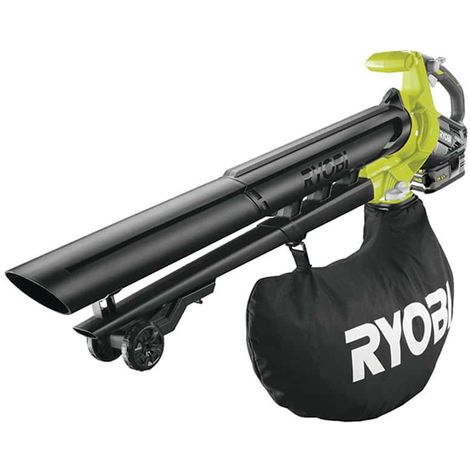 RYOBI 18V LithiumPlus Brushless Vacuum Blower and Grinder - 1 x 5.0 Ah battery - 1 x RBV1850 quick charger