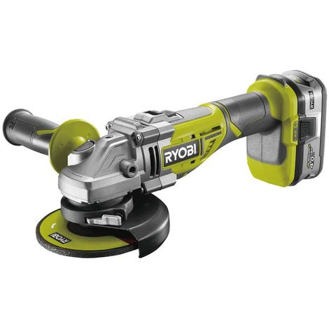 RYOBI 18V LithiumPlus OnePlus Brushless angle grinder - 1 battery 4.0 Ah - 1 quick charger - R18AG7-140S