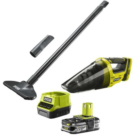 RYOBI 18V One Plus R18HVF-0 Hand Vacuum Pack - 1 x 2.5Ah LithiumPlus battery - fast charger RC18120-125