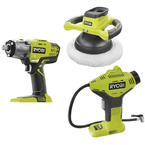 RYOBI 18V OnePlus automotive polisher pack without battery or charger R18B-0 - OnePlus impact bolter R18IW3-0 - One Plus