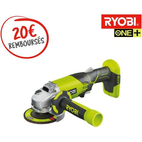 RYOBI 18V OnePlus brushless angle grinder - without battery or charger R18AG7-0
