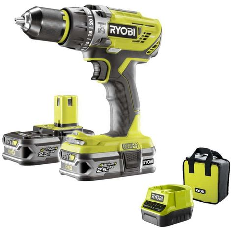 Ryobi One 2.0Ah Battery and Charger 18 V with Lithium Impact Driver