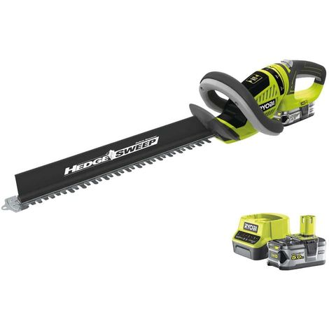 RYOBI 18V OnePlus LithiumPlus Hedge Trimmer Pack - 1 battery 2.5Ah - 1 charger RHT1851R25F - 1 battery 5.0Ah RB18L50