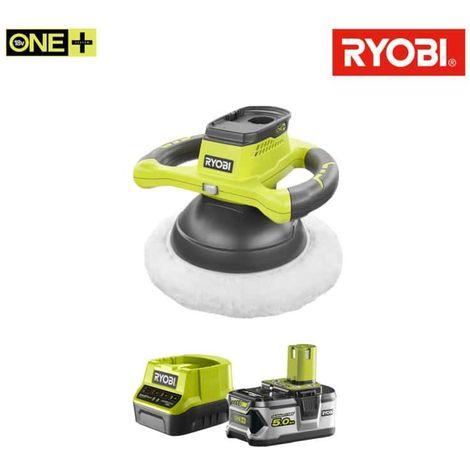 RYOBI 18V OnePlus Polisher Pack R18B-0 - 1 battery 5.0Ah - 1 fast charger 2.0Ah RC18120-150