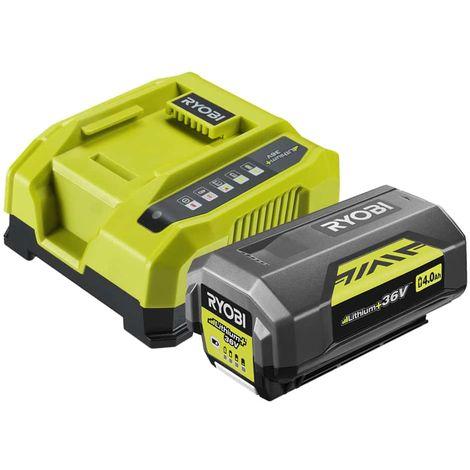 RYOBI 36V LithiumPlus 4.0 Ah battery - 1 RY36BC60A-140 quick charger