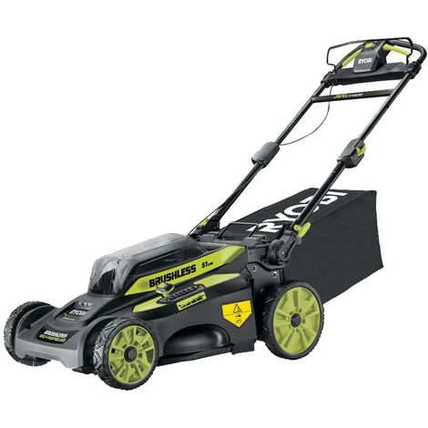 RYOBI 36V LithiumPlus Brushless Towed Mower - cuts 51 cm - 1 battery 6.0Ah - 1 quick charger RY36LMX51A-160