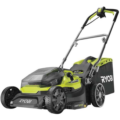 RYOBI 36V LithiumPlus Hybrid Lawnmower cuts 37cm - 2 x 5.0 Ah batteries - 1 x RY18LMH37A-250 quick charger