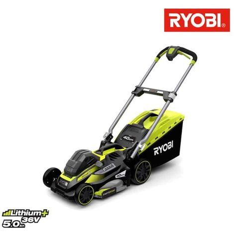RYOBI 36V LithiumPlus Trailed Lawn Mower - 1 36V 5.0Ah max power battery - 1 charger 1.7 Ah cut 40cm RLM36X41H50P