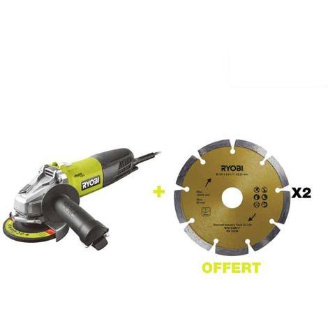 RYOBI 800W 125mm angle grinder - 2 diamond discs RAG800-125SD2