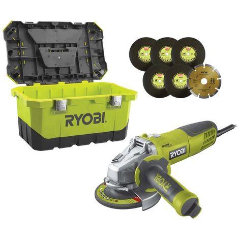 RYOBI angle grinder 1010W 125mm - 1 storage case RAG1010-125TA6